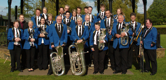 Band with MD James Haigh at Godalming Bandstand