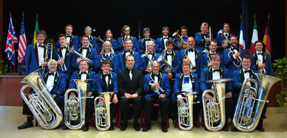 The band during a visit to Joigny, France in October 2015