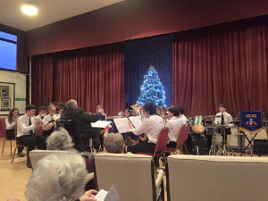 The Youth Band visiting Elmbridge Village, Cranleigh