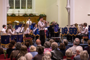 Youth Band with principal cornet Matthew as soloist
