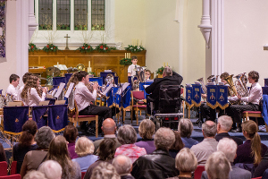 Godalming Youth Band at the Christmas Concert in 2015