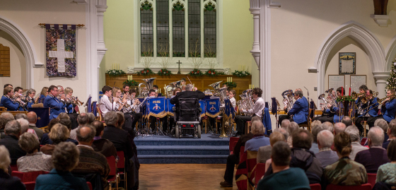 Godalming Youth Band and Godalming Band at the Christmas Concert 2015