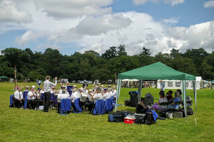 Godalming and Haslemere Town bands at Albury Produce Show