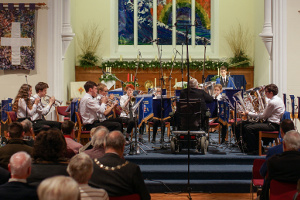 Godalming Youth Band at the Christmas concert