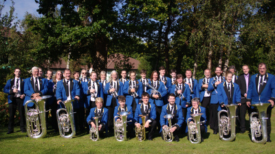 Godalming Band pictured in Crawley after winning the 3rd section in the scaba Autumn Contest