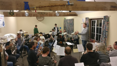 Rehearsing ahead of the scaba Autumn Contest in our band room