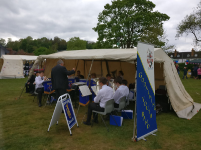 Upbeat music with Godalming Youth Band at the Spring Fair