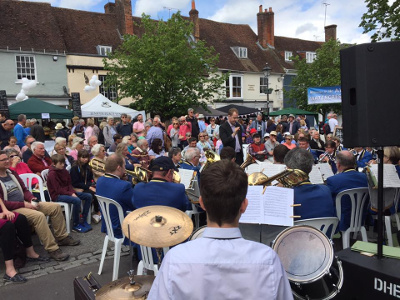 Busy times at the Alresford Watercress Festival, with a great crowd at the main stage