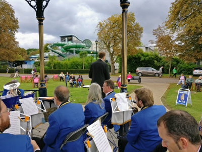 September on Woking bandstand in the park