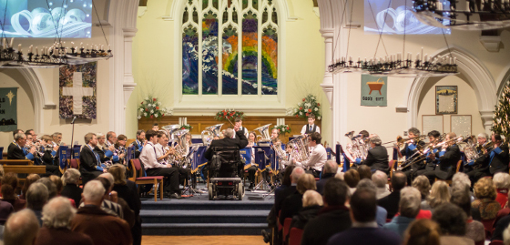 Godalming Youth Band and Godalming Band at the Christmas Concert 2017